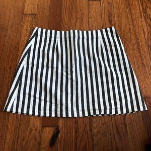 F21 striped linen skirt